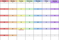 December 2018 Calendar Excel