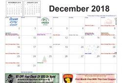 December 2019 Calendar Events