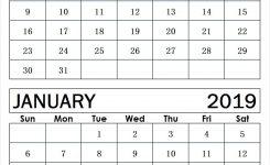 December 2018 January 2019 Calendar Printable