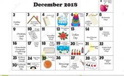 December 2018 Quirky Holidays And Unusual Events Stock Illustration