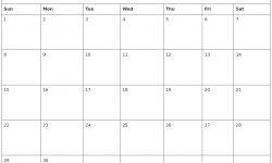 Blank December 2019 Calendar Printable Format