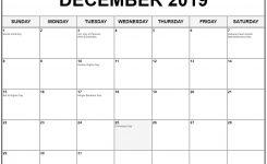December 2019 Calendar With Holidays Printable Calendar