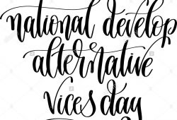 National Develop Alternative Vices Day 2019