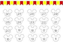 disney calendar printable