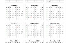 Download Blank Calendar 2019 12 Months On One Page Vertical