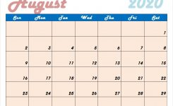 Download Cute August 2020 Calendar Design In Jpg 2020 Calendar