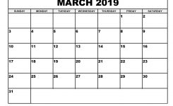 Download March 2019 Calendar Blank Template Editable Calendar