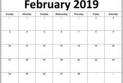 January February 2019 Calendar Printables