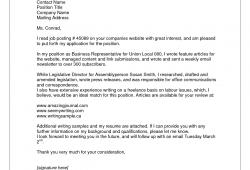 Freelance Cover Letter Sample