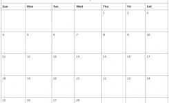 Editable February 2018 Calendar Shoot Design
