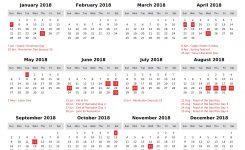 Egypt Printable Calendar 2018 Calendar Pro