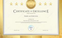 Elegant Certificate Template For Excellence Achievement Stock