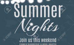 Elegant Summer Night Party Invitation Flyer Template Royalty Free