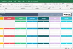 Free Spreadsheet Calendar Template