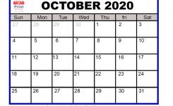 😃[Free}*^ October 2020 Printable Calendar For Word, Excel & Pdf