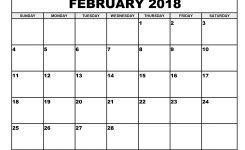 February 2018 Blank Calendar Idealvistalistco