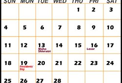 February Calendar Events Uk