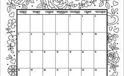 February 2018 Coloring Calendar Page Coloring Pages Pinterest