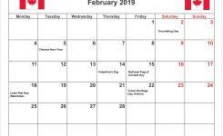 February 2019 Calendar Canada Printable Calendar Creative Printable