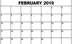 February 2019 Calendar Customized Free Printable February 2019