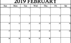 February 2019 Calendar Date Free Calendar Templates Worksheets