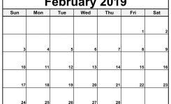 February 2019 Calendar Editable Free Printable February 2019
