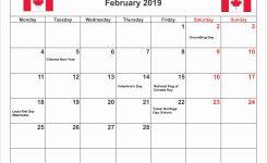 February 2019 Calendar Ontario Calendar Creative Printable