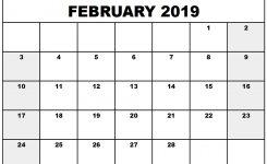 February 2019 Calendar Pdf Word Excel Printable Calendar Free
