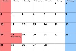February 2019 Calendar With Holidays Printable
