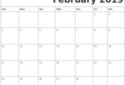 February Free Printable Calendar
