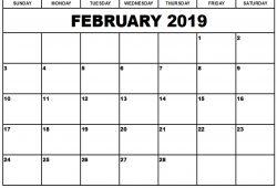2019 February Calendar