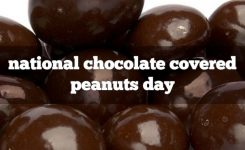 February 25th Is National Chocolate Covered Peanut Day For The