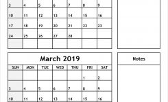February And March 2019 Calendar All 12 Month Calendar Printable