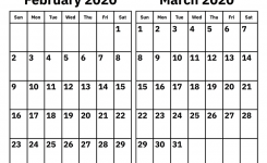 February And March 2020 Calendar – Printable Calendar 2020