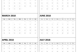 February July 2018 Calendar