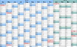 Financial Calendars 201819 Uk In Microsoft Excel Format