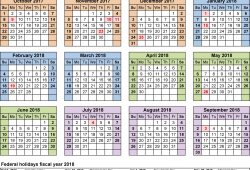 Us Fiscal Calendar 2018