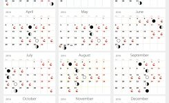 Fishing Moon Phase Calendar Blank Calendar Design 2018