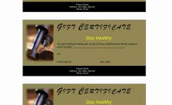 Fitness Gift Certificate