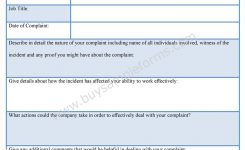 Formal Complaint Form Template Funfpandroidco