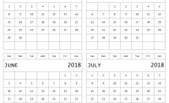 Four Month Calendar April To July 2018 Blank Printable Template