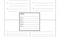Four Square Writing Template Printable Narrative Four Square