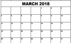 Free 10 Blank March 2018 Calendar Printable Template With Holidays