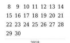 Free 2018 Printable Calendar Bold Seven Photo