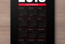 Free Calendar 2018 Template Ai