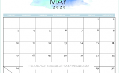 Free 2020 Calendar Printable Simple And Very Pretty Planners