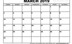 Free 6 Month Calendar January To June 2019 Template Printable
