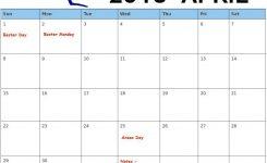 Free April 2018 Australia Holidays Calendar Calendar 2018