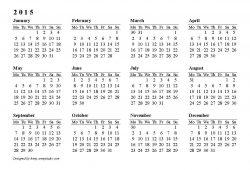Printable Yearly Customizable Calendars