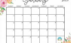 Free Cute Printable Calendars 2019 Printable Printable Calendar